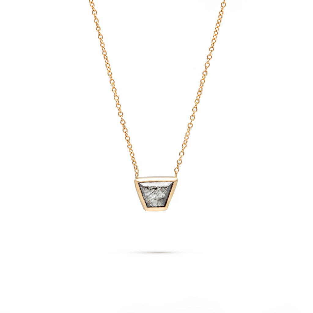 Small Diamond Trapezoid Necklace