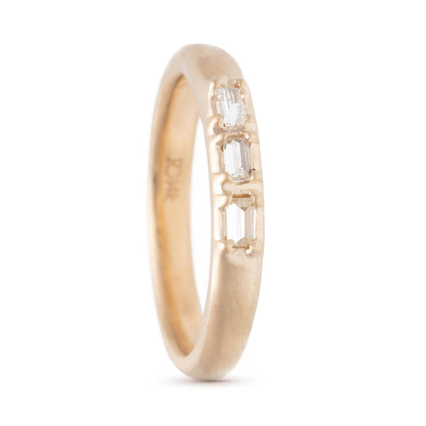 Triple Inverted Baby Baguette Ring
