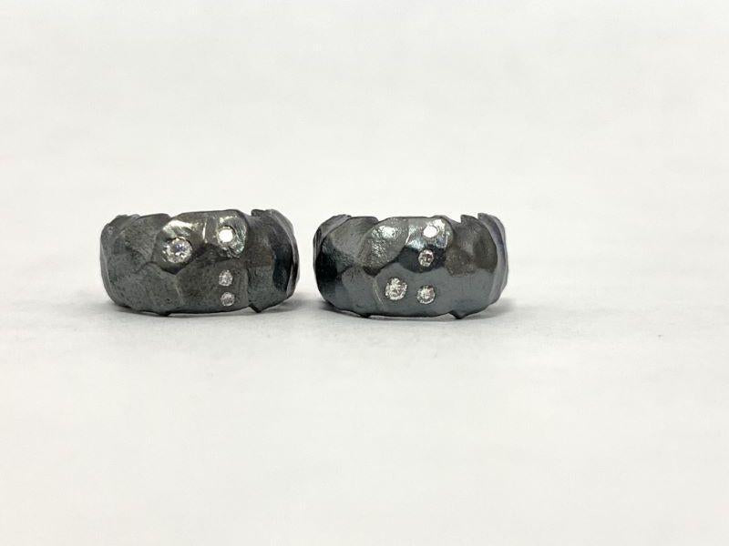 Textured Curved Diamond Studs