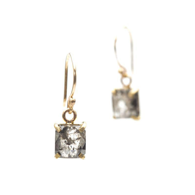 Stormy Grey Diamond Earrings