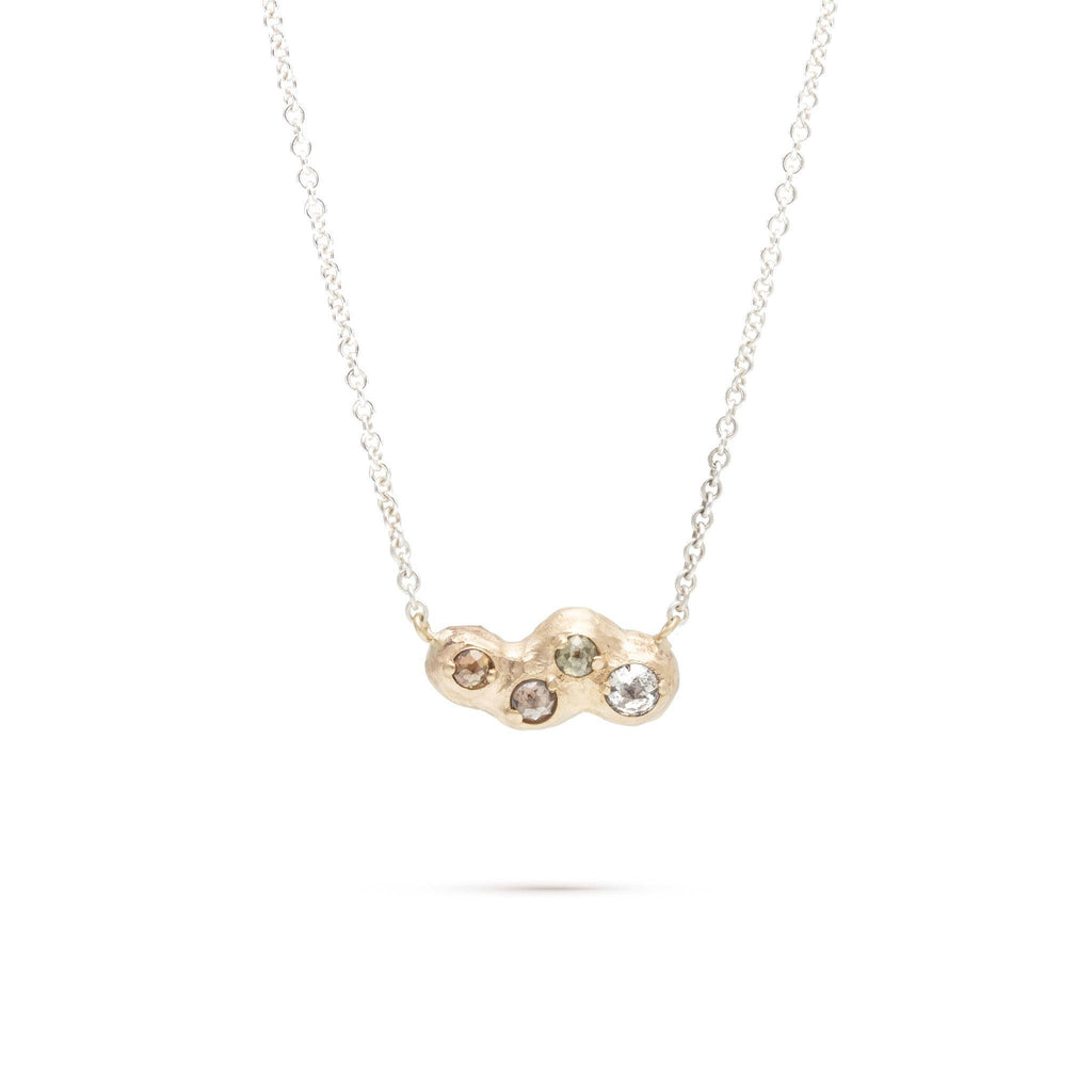 Rose-Cut Diamond Cloud Necklace