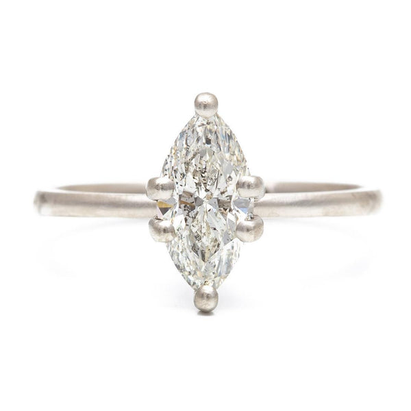 Dainty Prong Marquise Diamond Ring