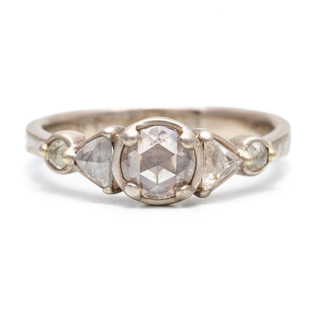 Rose Cut Five Stone Totem Diamond Ring