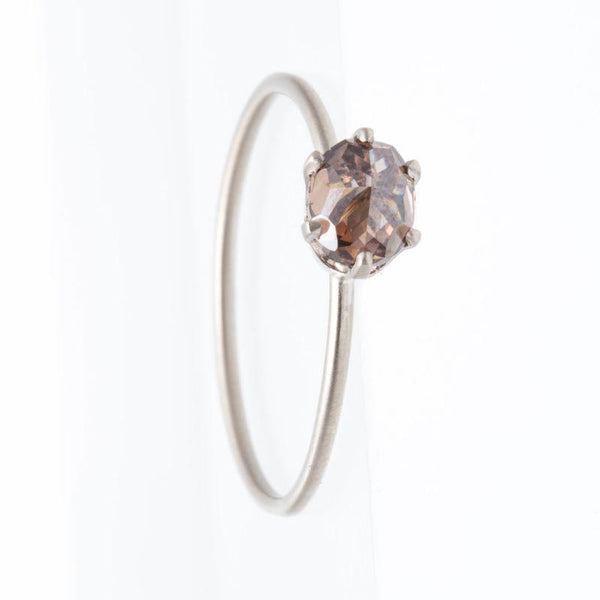 Purple/Cognac Diamond Ring