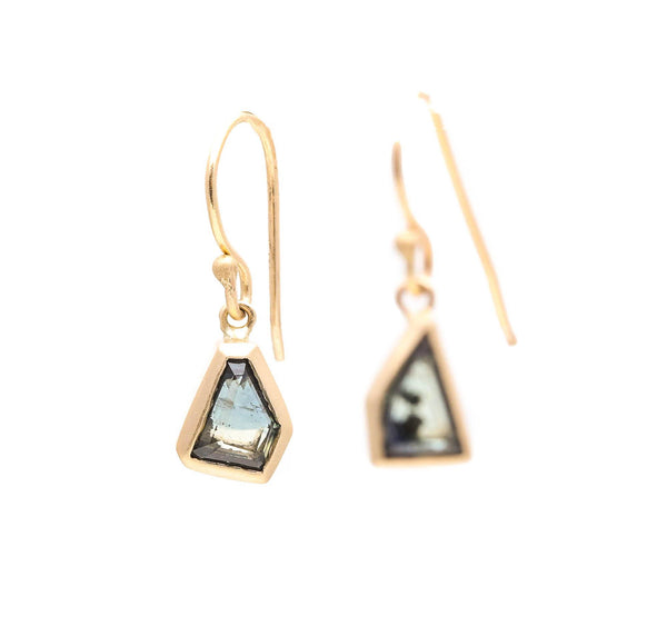 Abstract Australian Sapphire Earrings