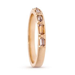 Bohemian Baguette Diamond Ring