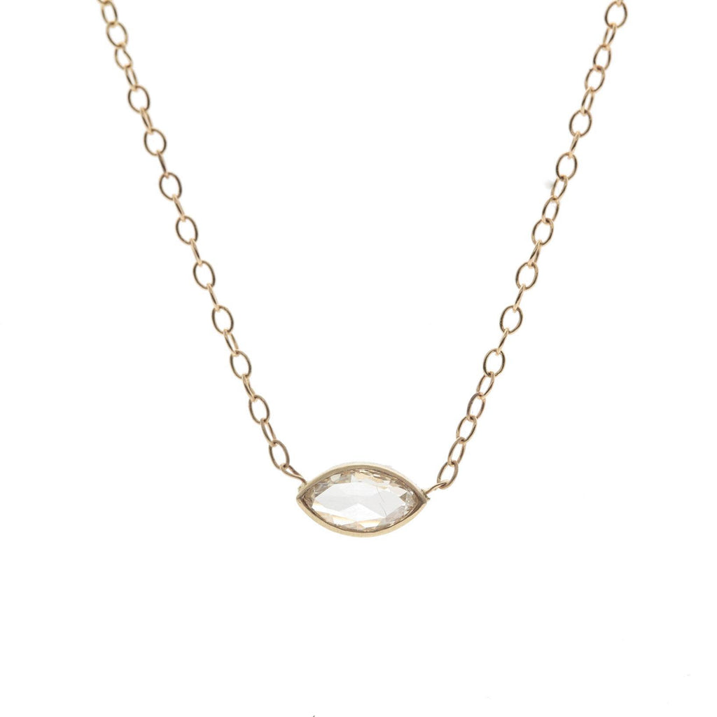 Marquise Rose Cut Diamond Eye Necklace