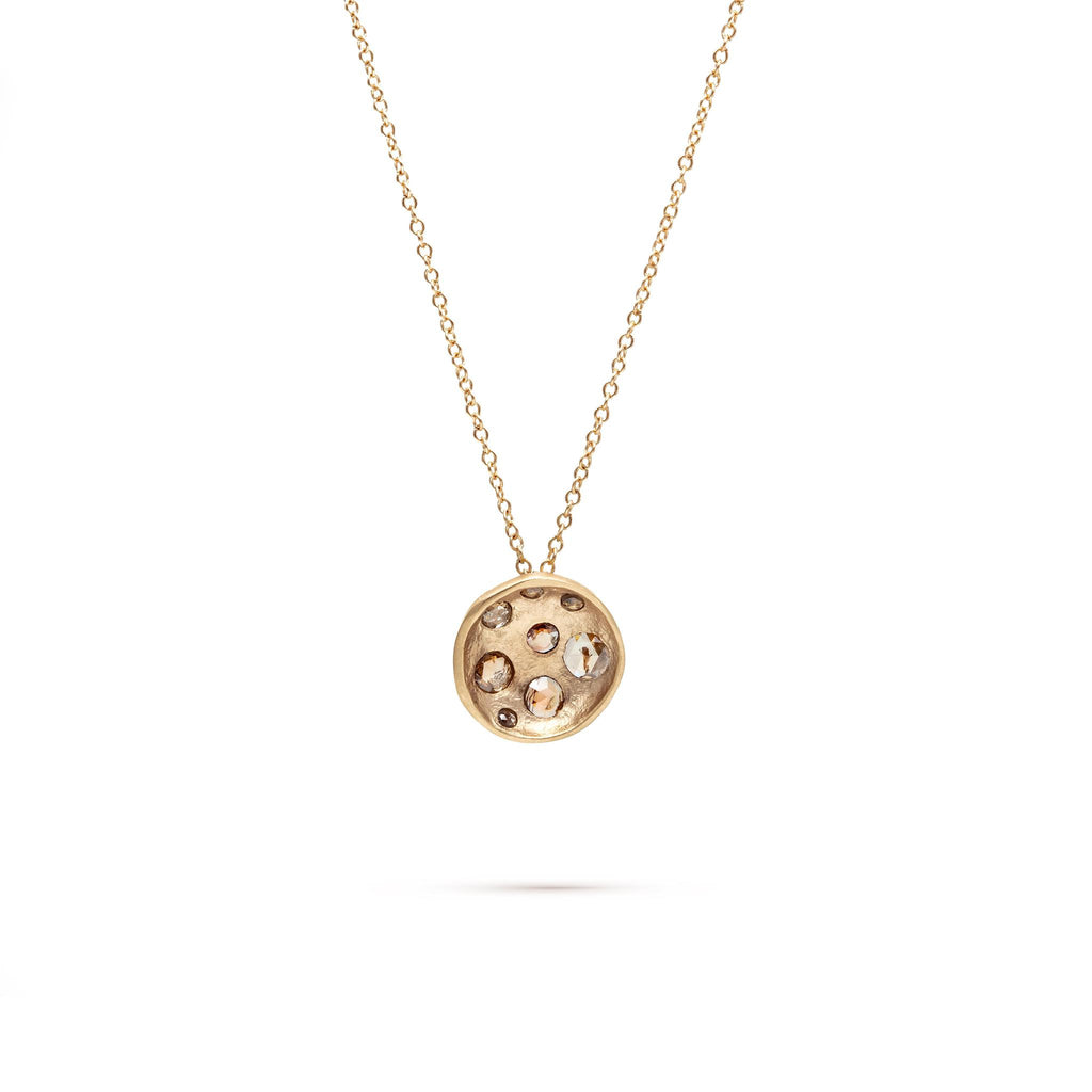 Diamond Crater Moon Necklace