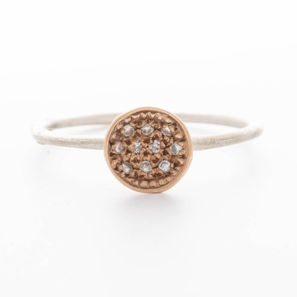 Rose Gold, Two-tone Diamond Nesting Ring