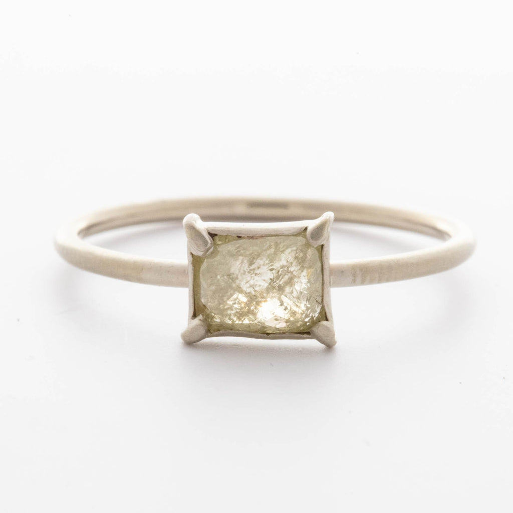 Grey Rose-Cut Diamond Ring