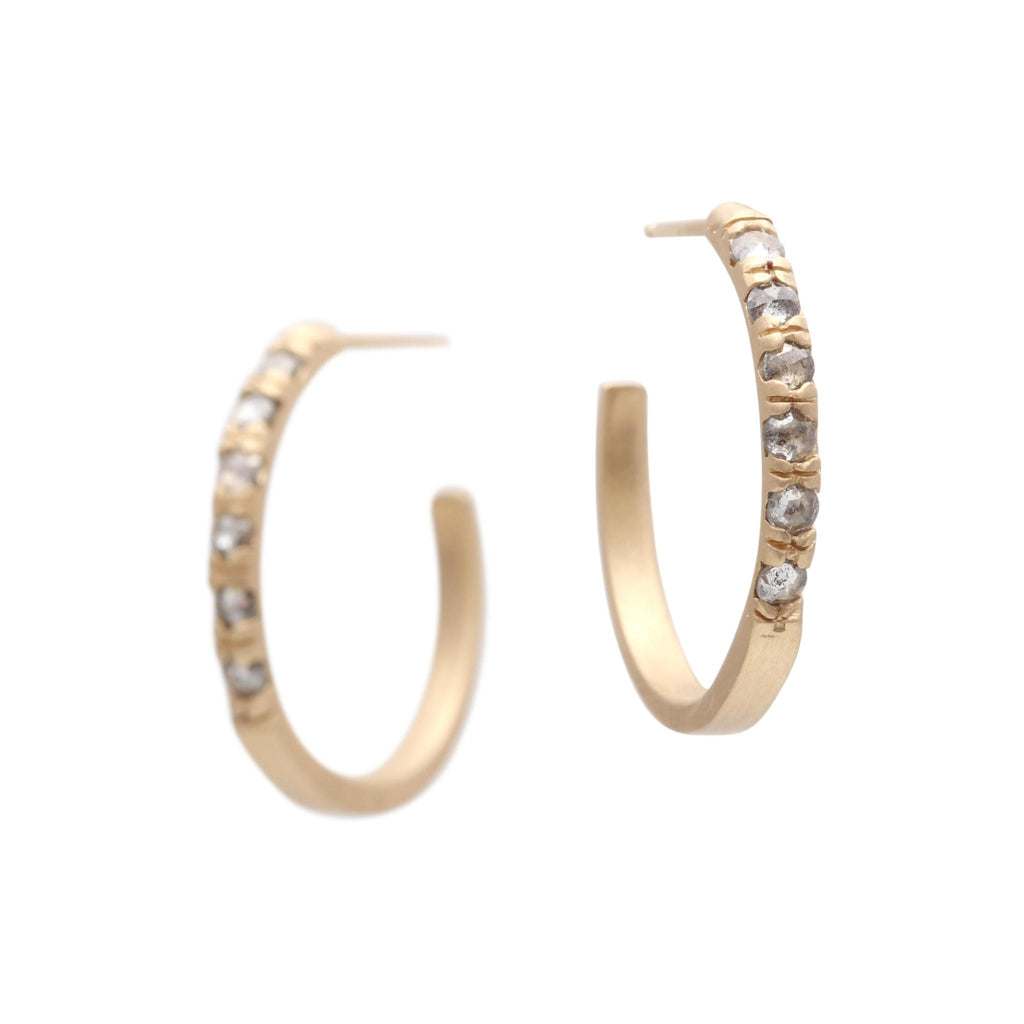 Rose-cut Pavé Hoops