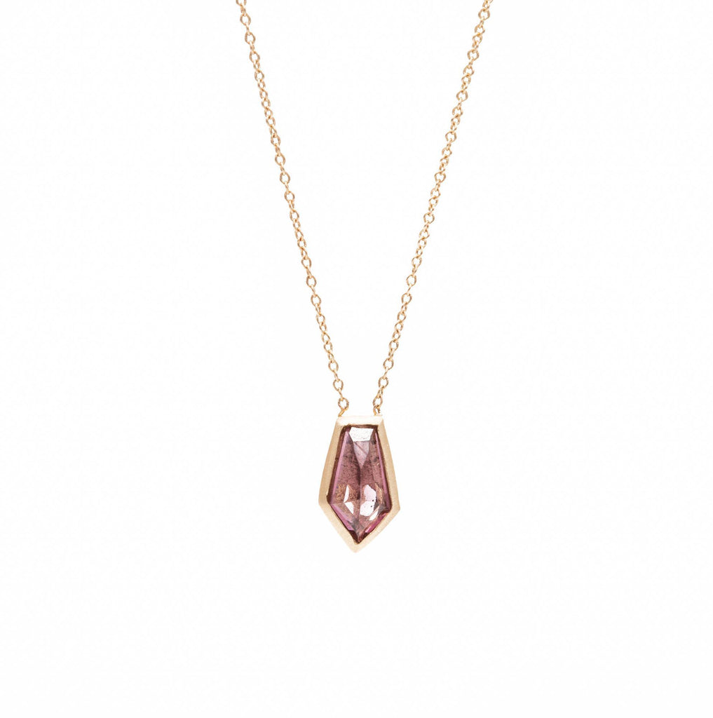 Deep Pink Burmese Spinel Bullet Necklace