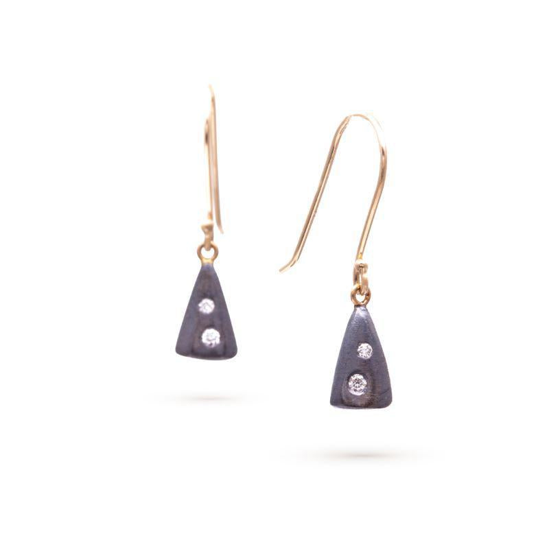 Tiny Smooth Cone Diamond Earrings