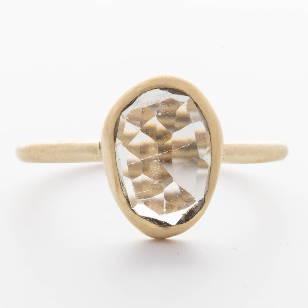 Light Grey Tourmaline Ring