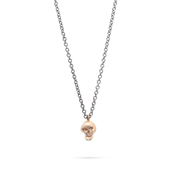 Two-Tone Baby Skull Necklace
