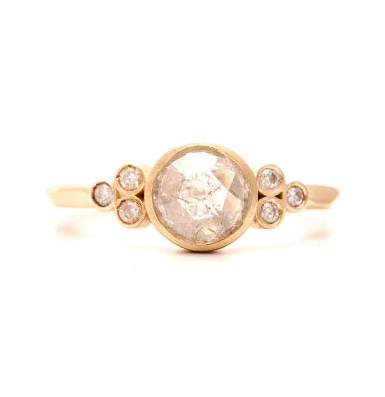 Misty Clustered Clover Diamond Ring