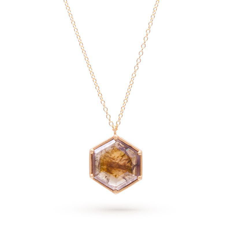 Hexagon Diamond Slice Necklace