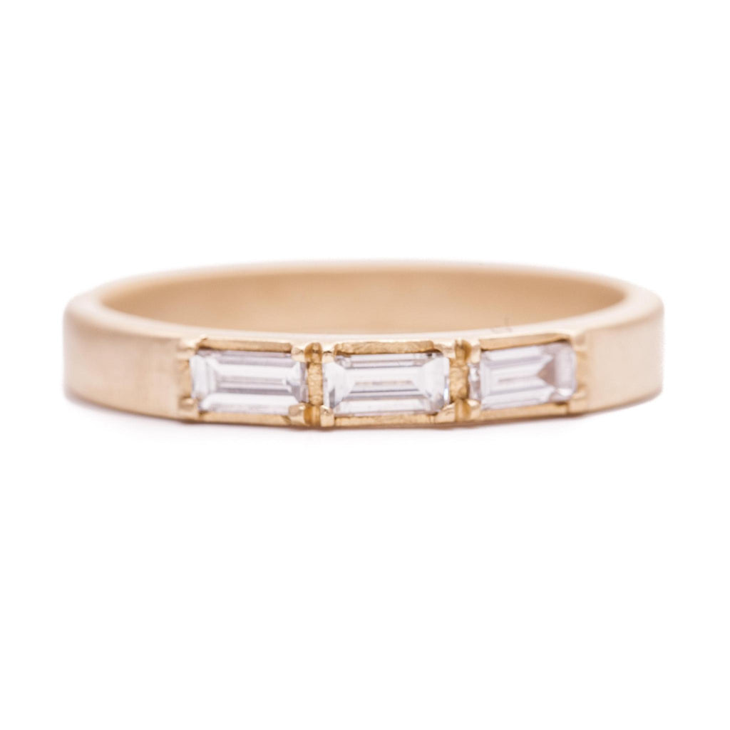 Triple White Baguette Ring