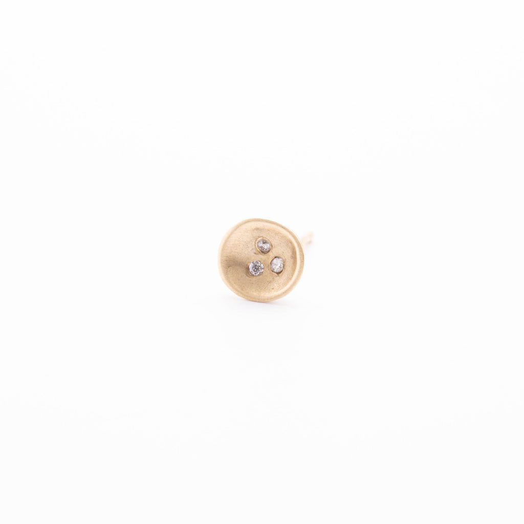 Diamond Nest Studs (single)