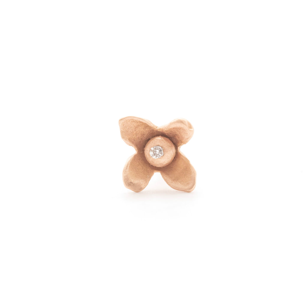 Wild Flower Diamond Studs (single)