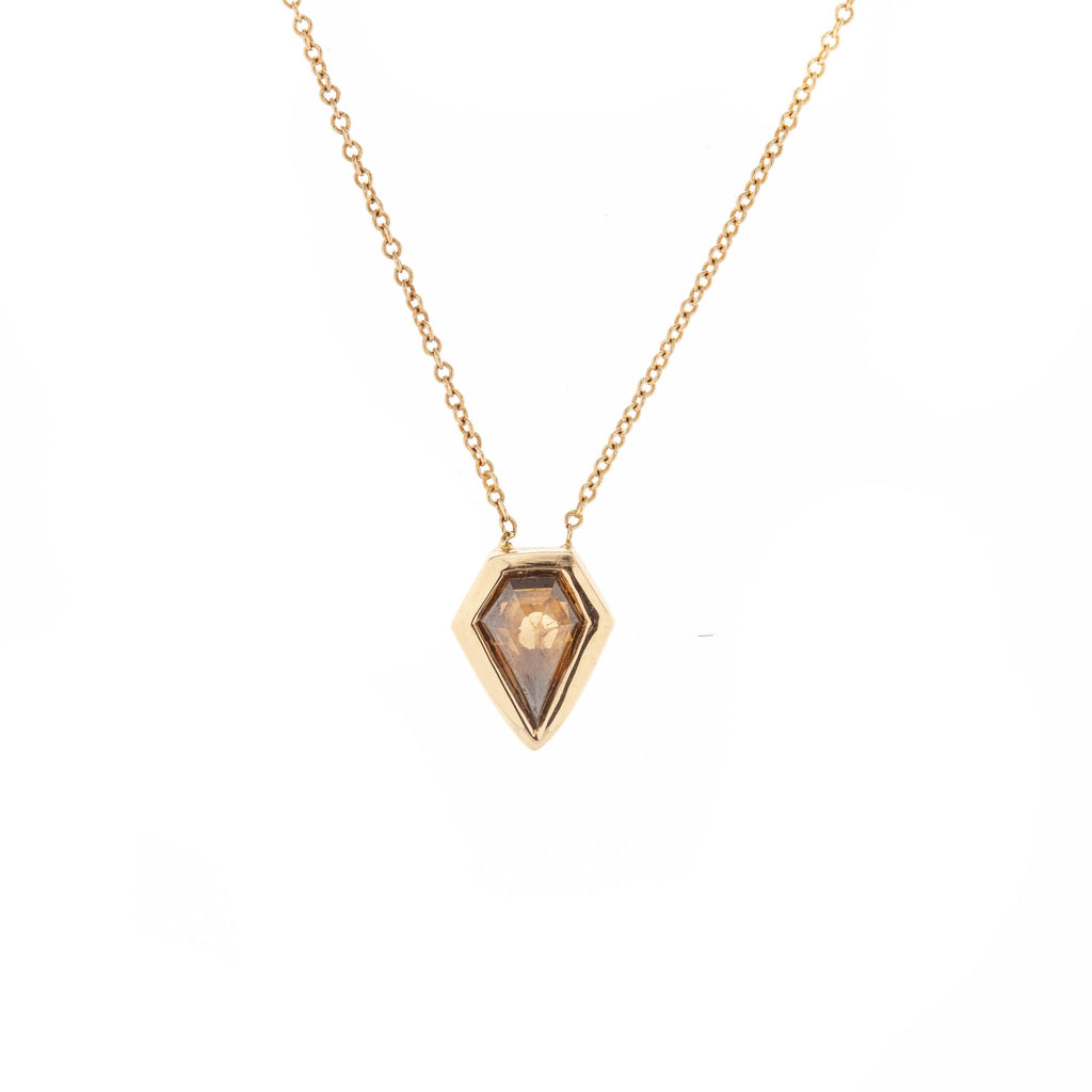 Champagne Shield Diamond Necklace
