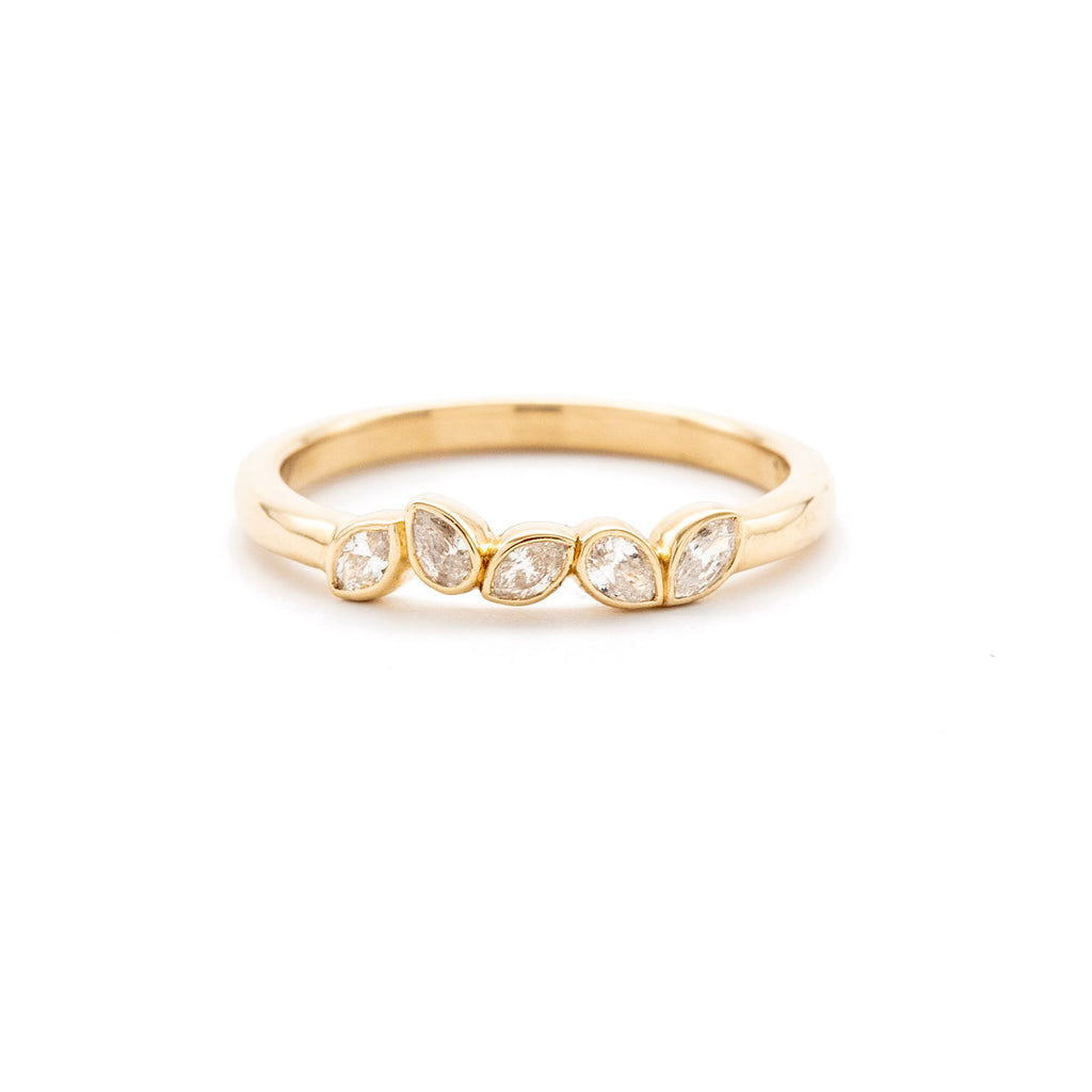 Dainty Dancing Diamond Band
