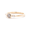 Dainty Night Sky Three Stone Ring