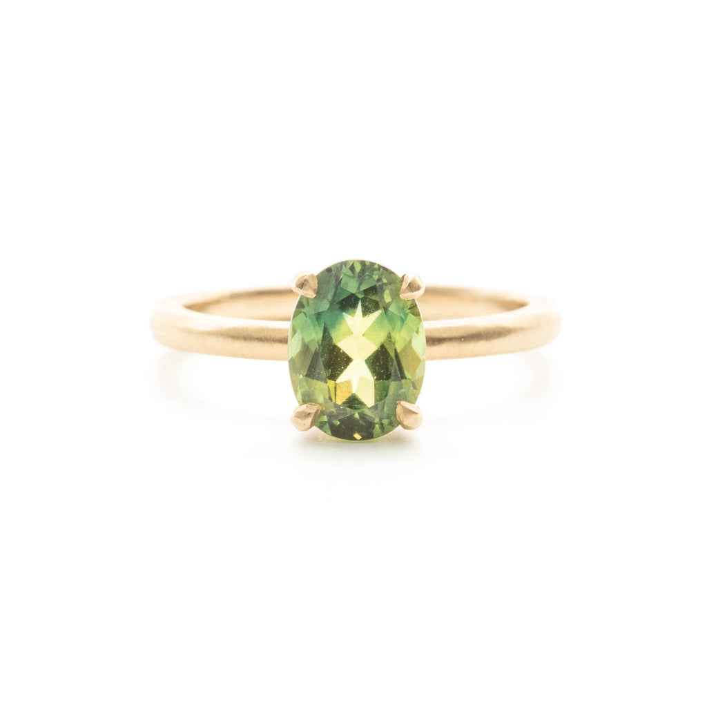 Rainforest Green Australian Parti Sapphire Ring