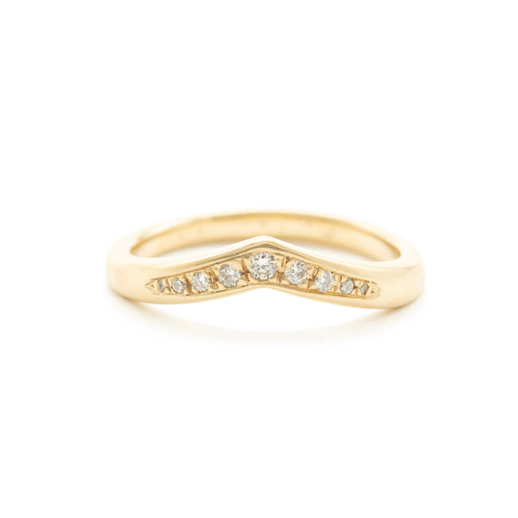Brilliant Diamond Pavé Extra Wide V Band