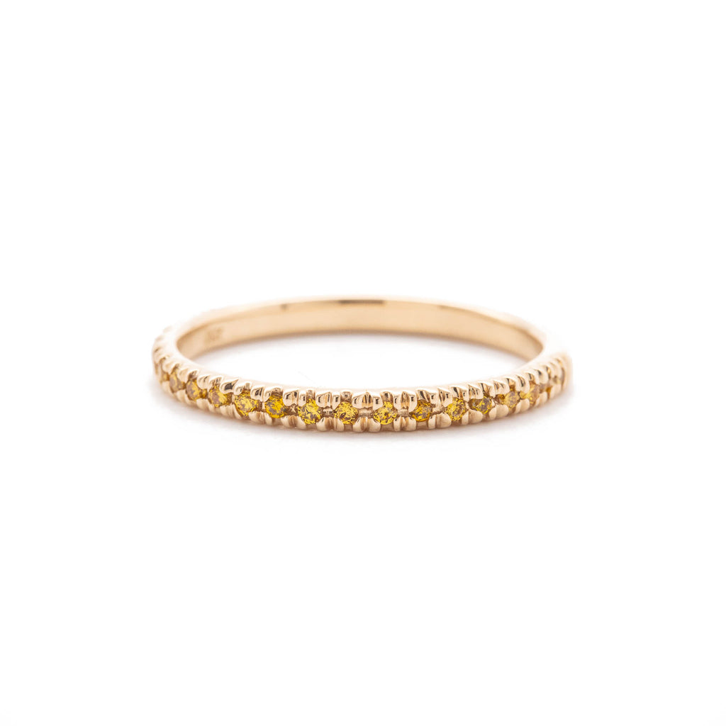 Canary Yellow Diamond Pave Band