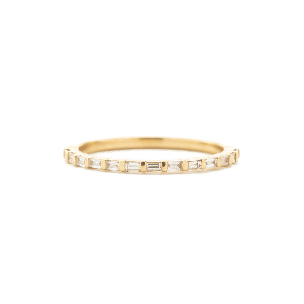 Bar Baguette Diamond Band Ring