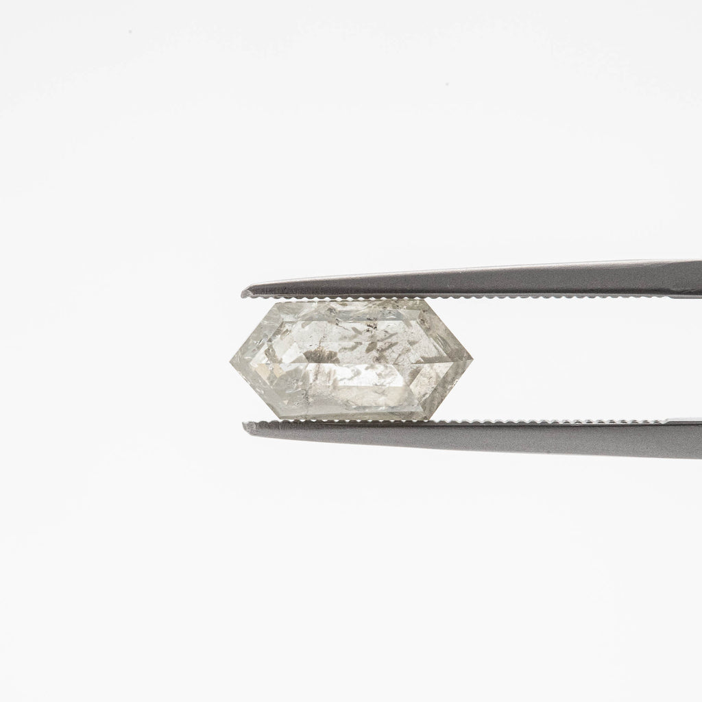 The Icicle (2.105 cts. Elongated Hexagonal Natural Grey Diamond)