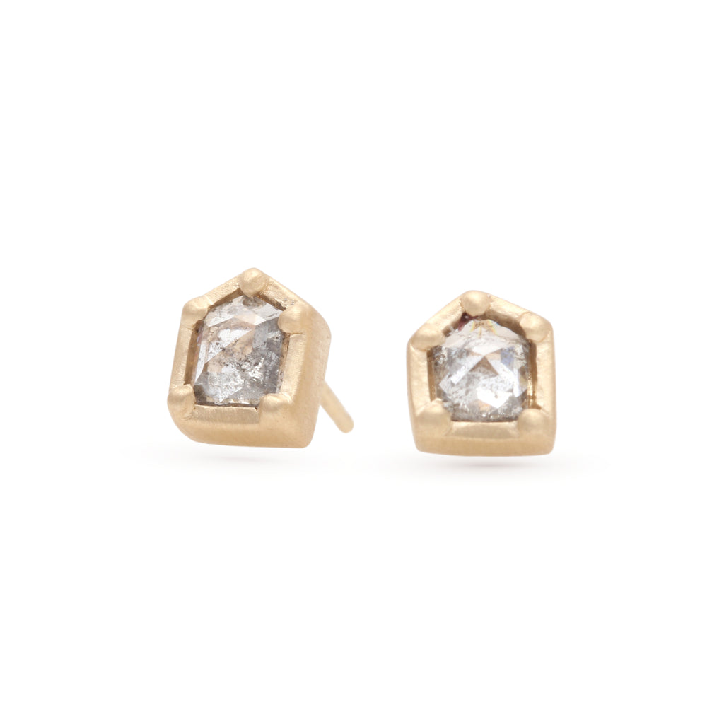 Speckled Geometric Diamond Studs