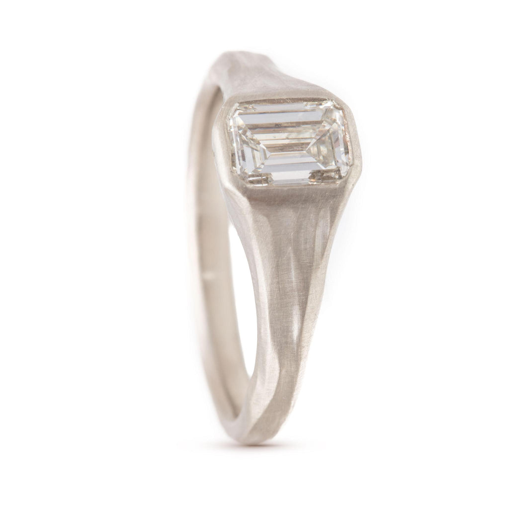 Stream Emerald Cut Diamond Ring