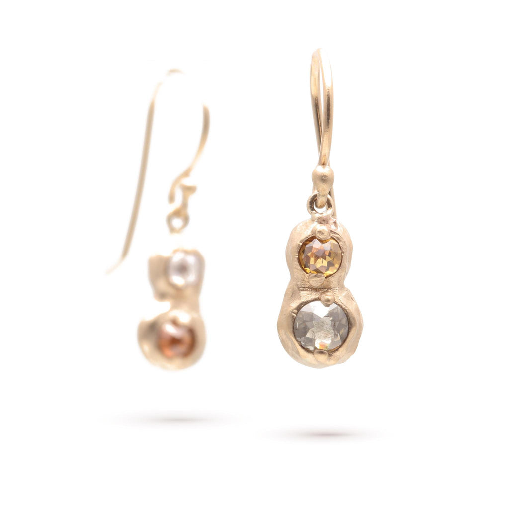 Double Rose-cut Diamond Earrings