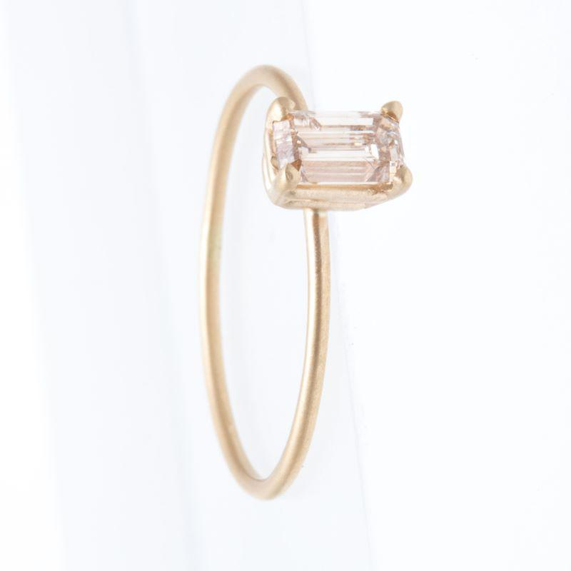 Light Champagne Emerald Cut Ring