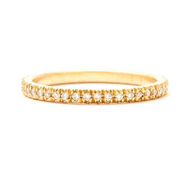 Victorian Pavé Eternity Band
