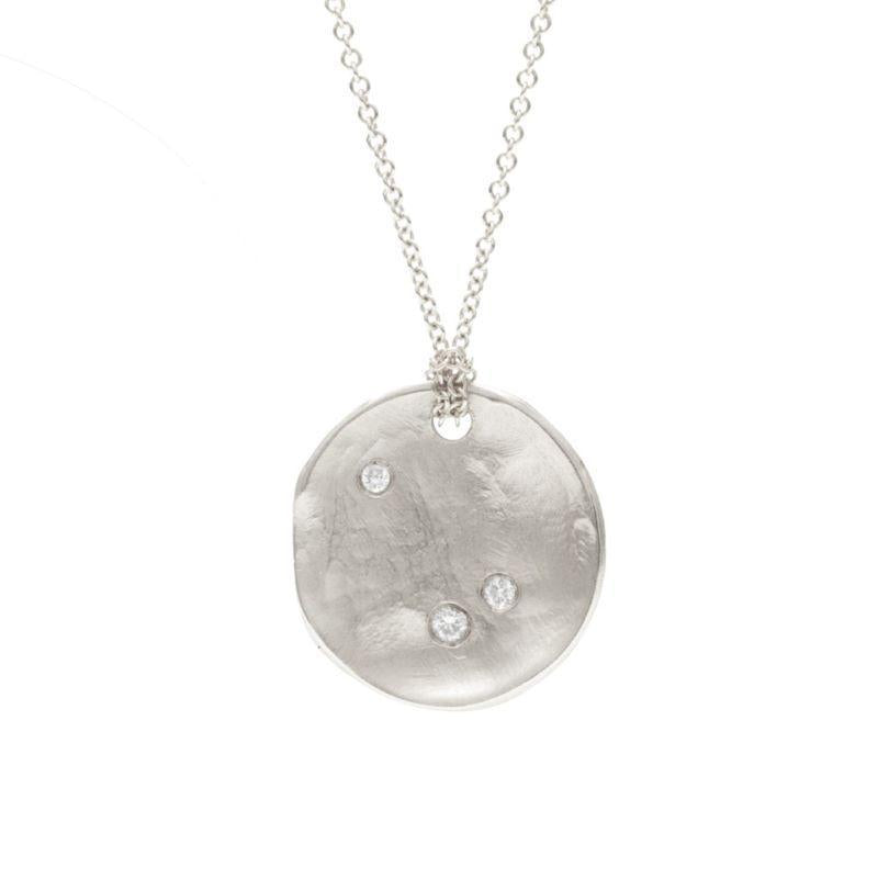 Full Moon Necklace, Sterling Silver