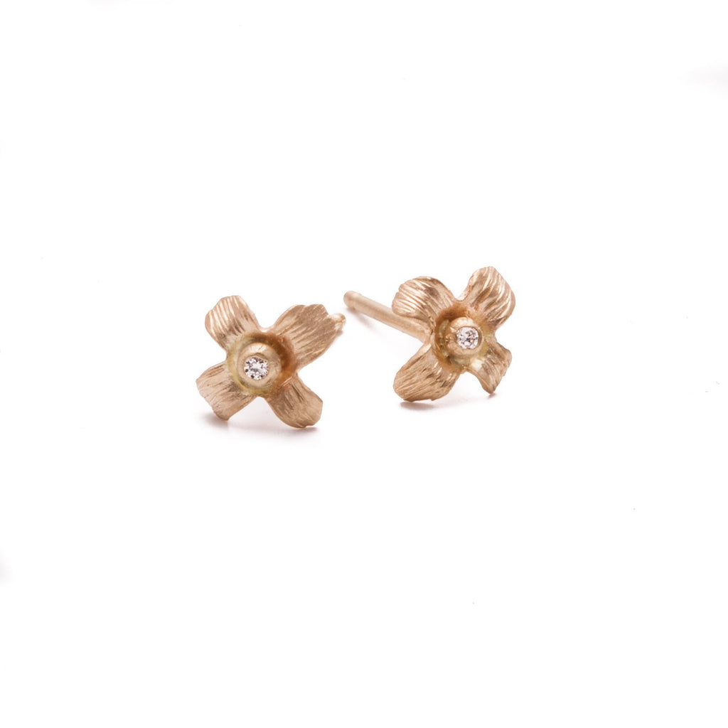 Wild Flower Diamond Studs