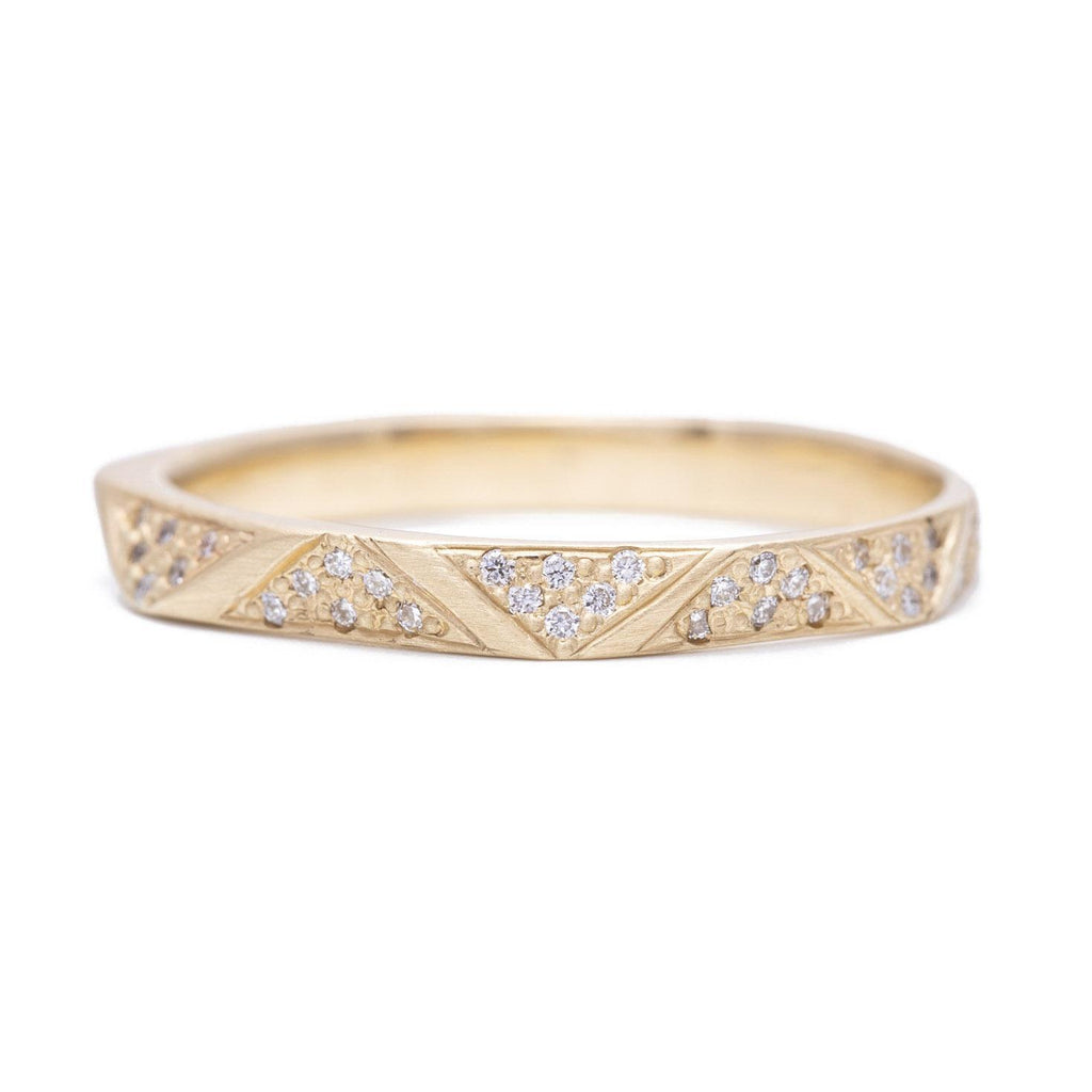 Eternity Diamond Pavé Facet Band