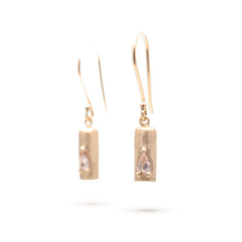 Diamond Cylinder Earrings