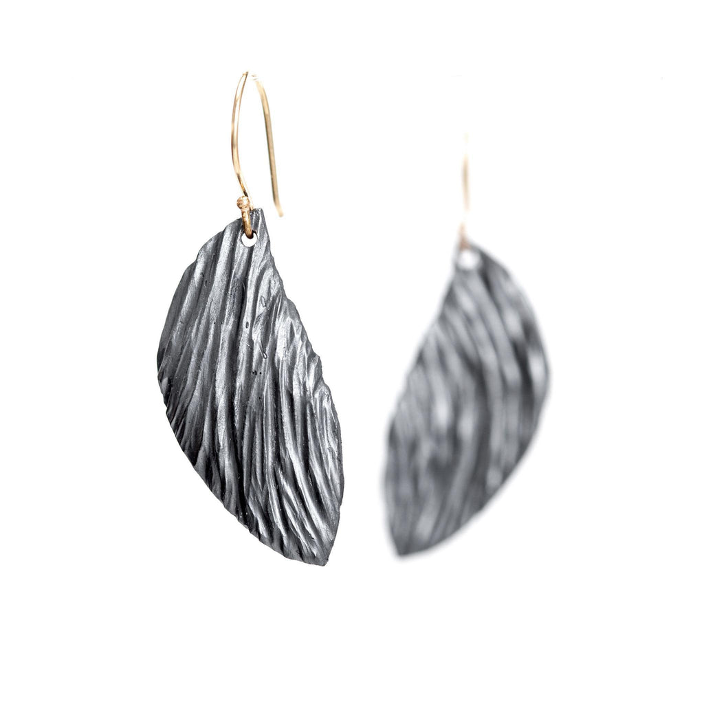 Crater Wing Earrings, Two-Tone