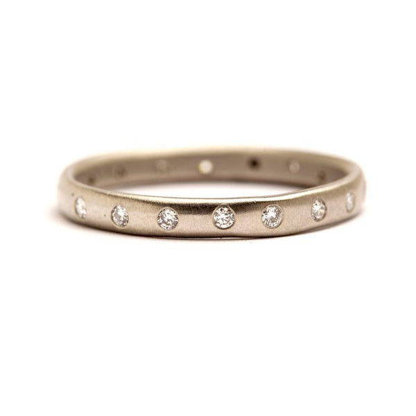 Half Round Studded Eternity Band