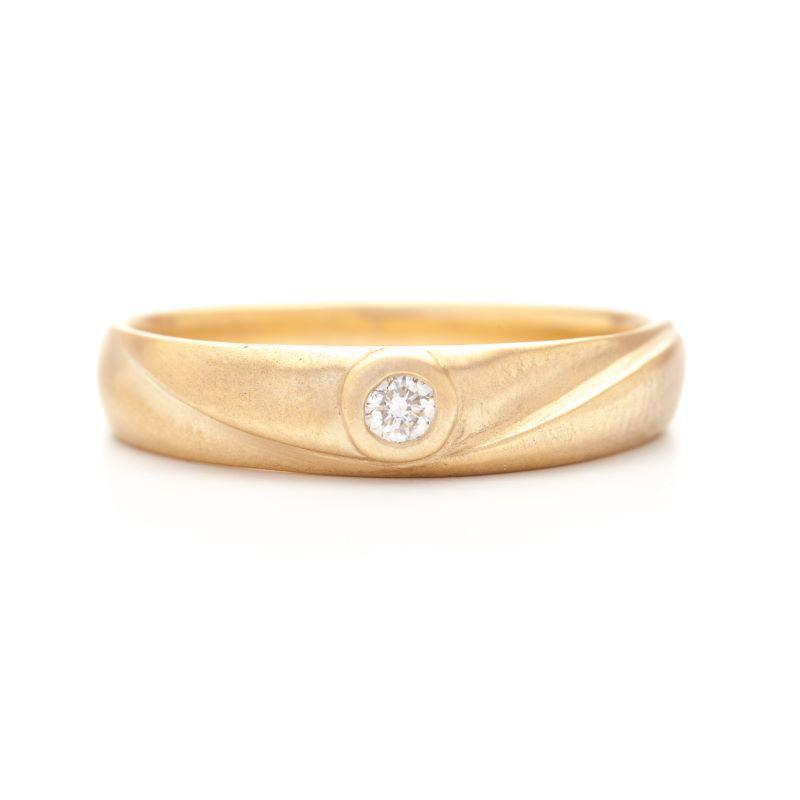 Diamond Center Fold Ring