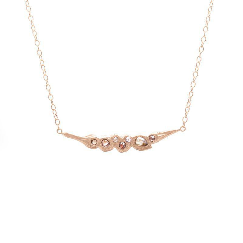 Horizontal Dancing Diamond Stream Necklace