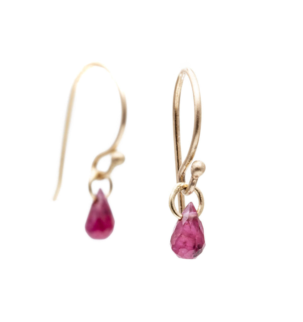 Ruby Briolette Earrings