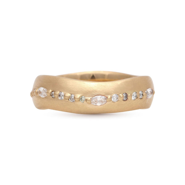 Marquise Wave Pave Band