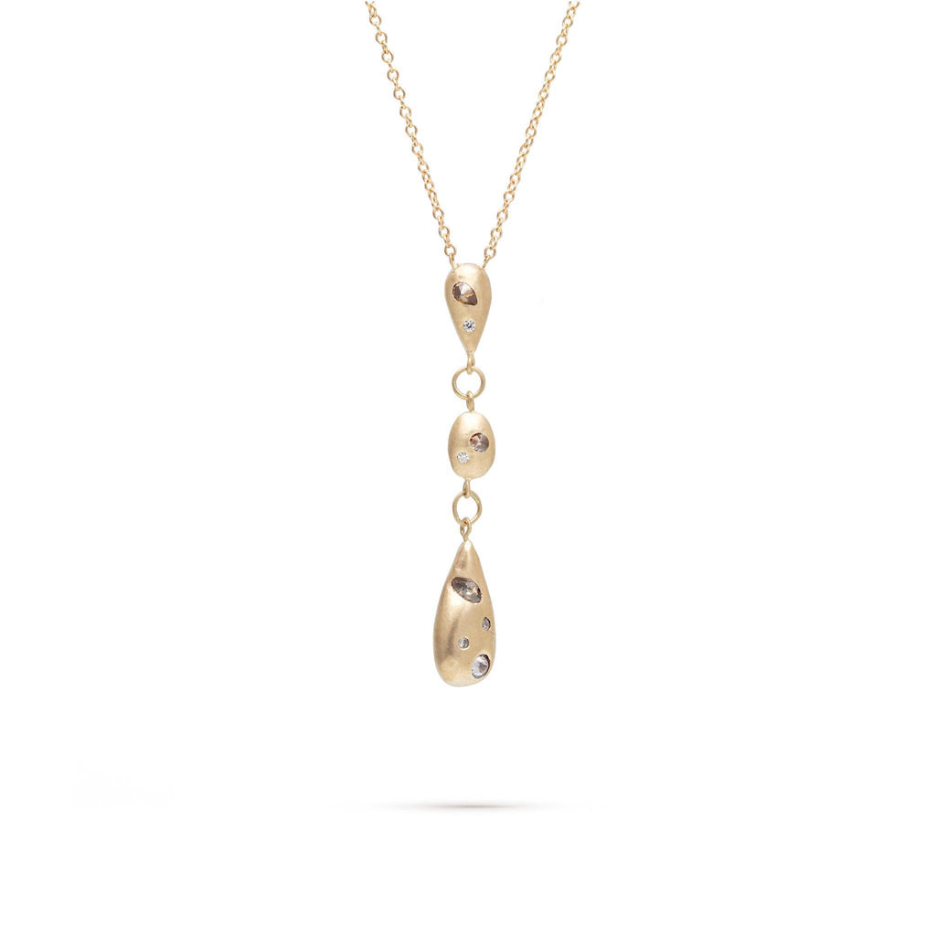 Falling Pear Diamond Necklace
