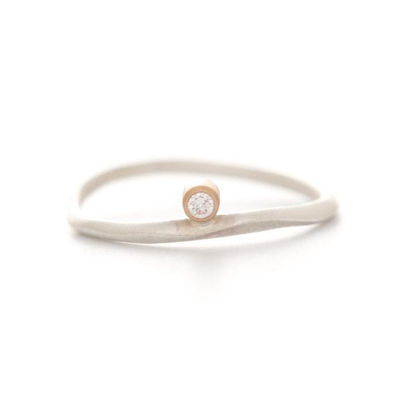 Two Tone Diamond Droplet Water Ring