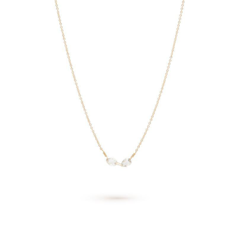 Inline Double Pear Diamond Necklace